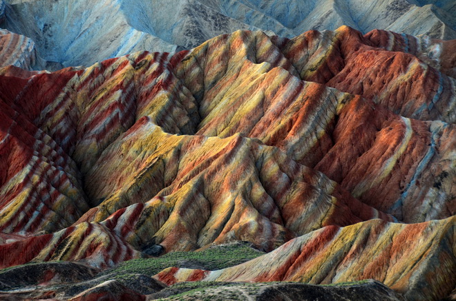 Ландшафт Денксія, кольорові гори в Китаї (1)