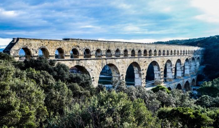 Акведук Пон-дю-Гар, найвищий давньоримський акведук, Франція (7)