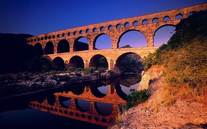 Акведук Пон-дю-Гар, найвищий давньоримський акведук, Франція (5)