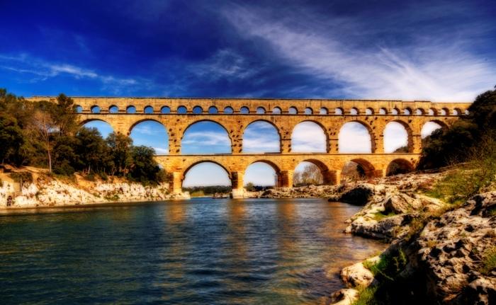 Акведук Пон-дю-Гар, найвищий давньоримський акведук, Франція (4)