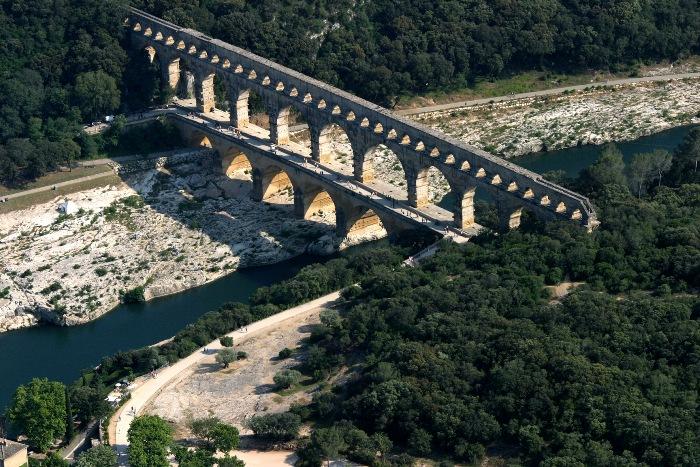 Акведук Пон-дю-Гар, найвищий давньоримський акведук, Франція (6)