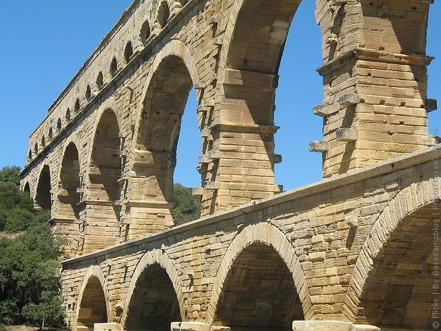 Акведук Пон-дю-Гар, найвищий давньоримський акведук, Франція (12)