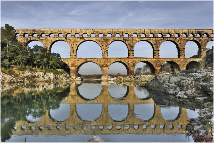 Акведук Пон-дю-Гар, найвищий давньоримський акведук, Франція (1)