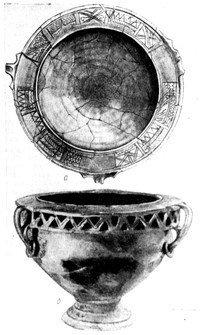 Ритуальна чара з календарним кругом, знайдена на місці
