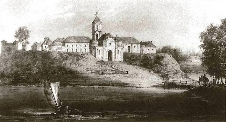 Наполеон Орда. Олицький замок. Гравюра 19 століття