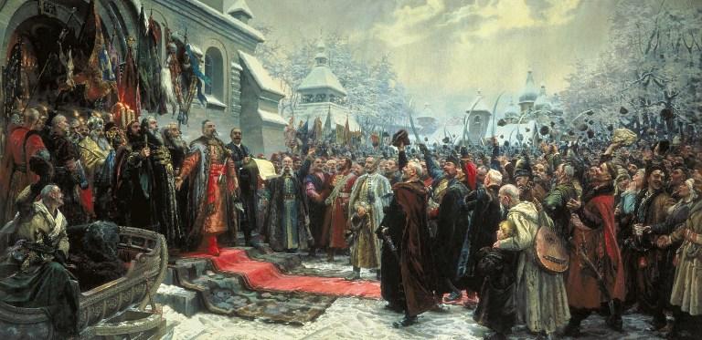 картина М. И. Хмелько «Переяславская рада»