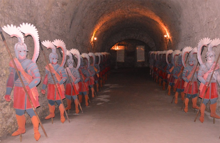 у підвалах замку