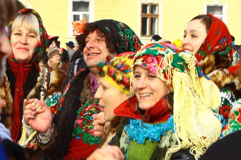 На маланківських святкуваннях у Чернівцях.  фото: kamienczanka