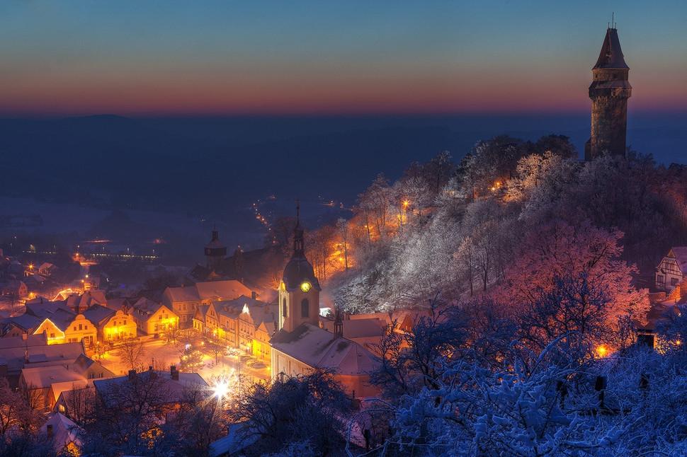 30 живописних зимових міст міста, зима, світ