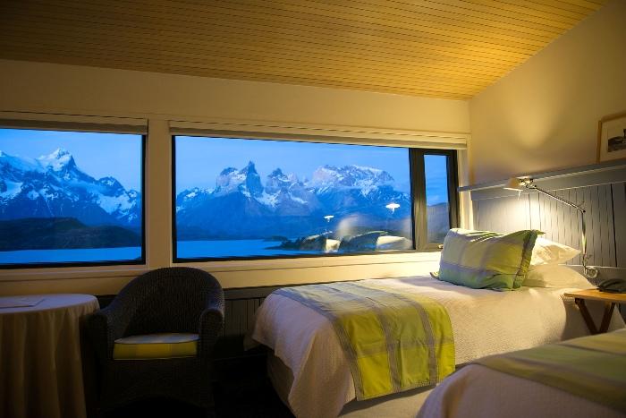 CHILE. PARQUE NACIONAL TORRES DEL PAINE. Hotel Explora Salto Chico. Suite.