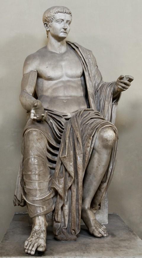 Мармурова статуя імператора Тіберія, 37 р. н.е.
