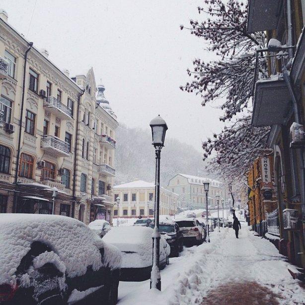 Снігопад у Києві 5 лютого. Фото instagram.com