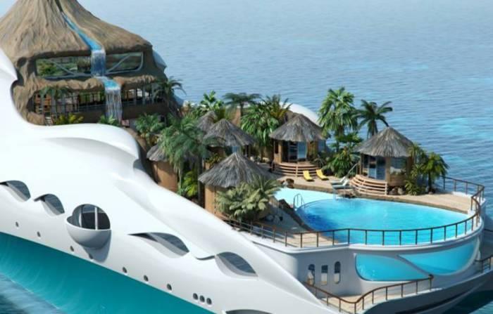 Розкішна гігантська яхта, яка вміщає в себе цілий острів