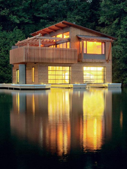 Затишний і сучасний човновий будинок в стилі мінімалізм