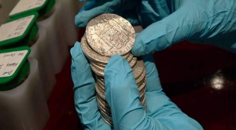 """Монети із затонулого """"Нуестра Сеньйора де лас Мерседес"""
