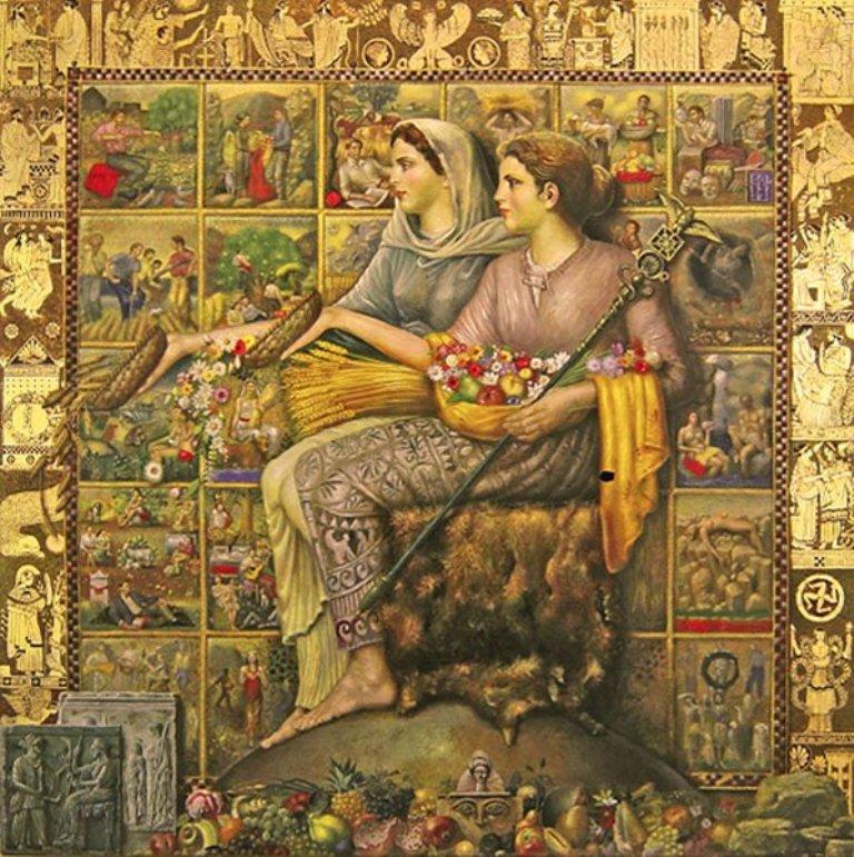 Богиня родючості з дочкою Персефоною