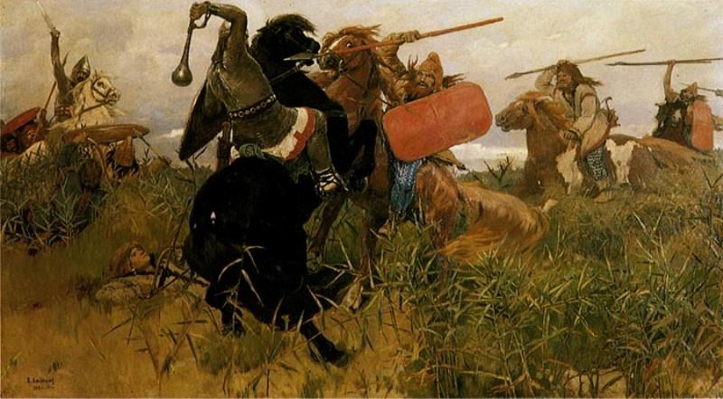 Бій скіфів зі слов'янами, автор Васнєцов