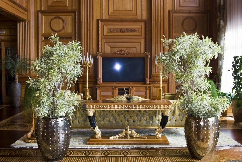 Телевізор у головному холі  фото: Yuriy Buriak