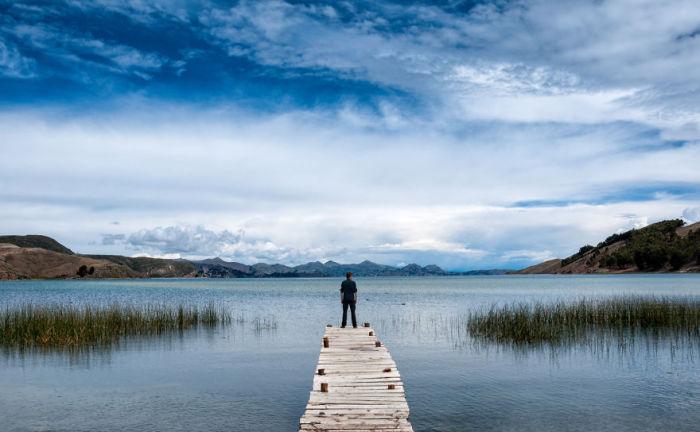 Пірс. Озеро Тітікака. Болівія. Автор фото: Antony Harrison.