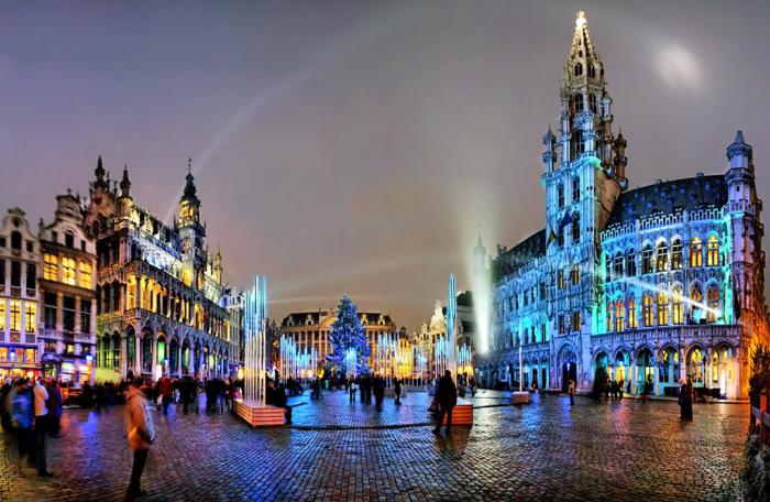 Нічний Брюссель