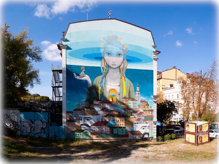 Автори графіті - француз Жюльєн Маллан (Seth) і севастополець Олексій Кислов