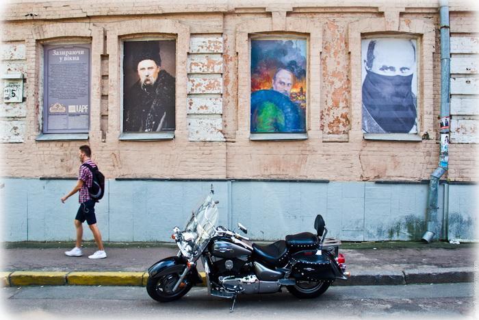 Портрети Тараса Шевченка в образі активіста Майдану, приурочені до 200-річчя Кобзаря