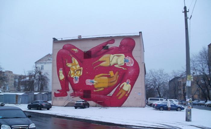 Автори графіті про аутизм - український арт-дует «Interesni Kazki»