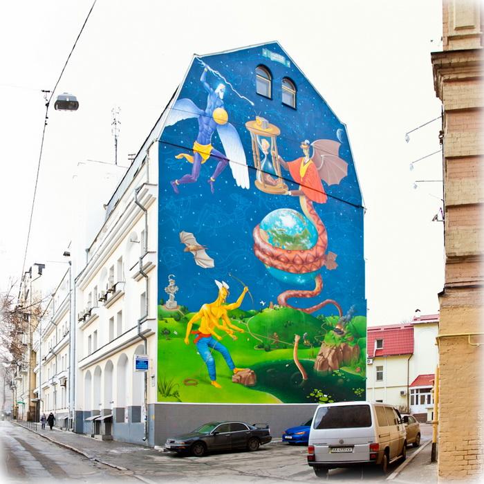 Мурал «Mission failed» від українського арт-дуету «Interesni Kazki»