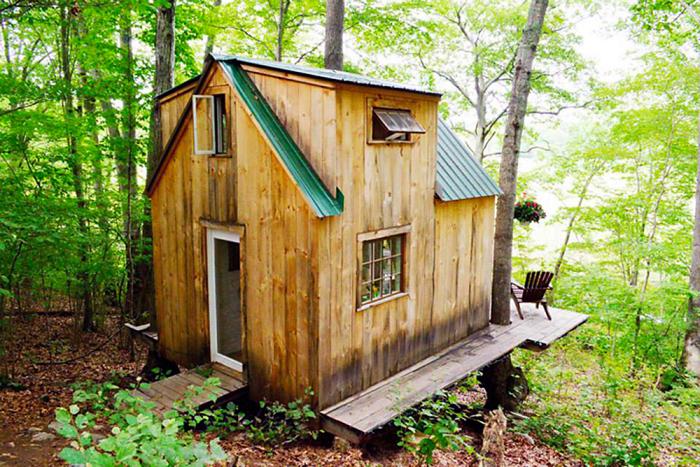 Оригінальна хатинка посеред лісу в США
