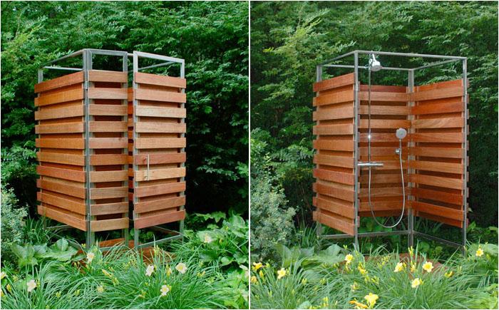 Літній душ в мінімалістському стилі
