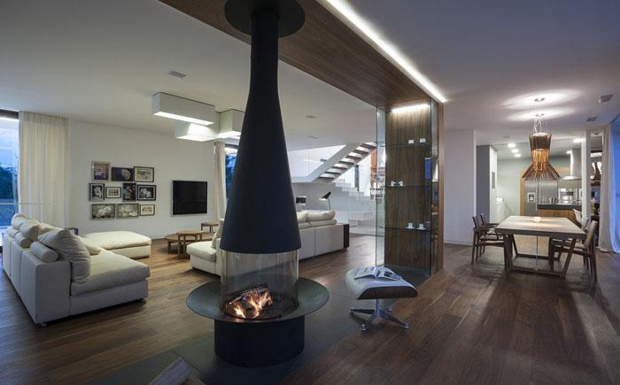 Інтер'єр вітальні від компанії Mobius Architects