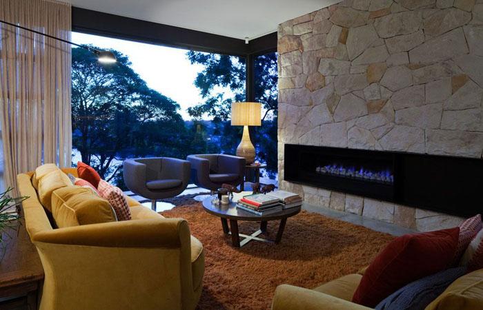 Вітальня від студії MCK Architects у Сіднеї