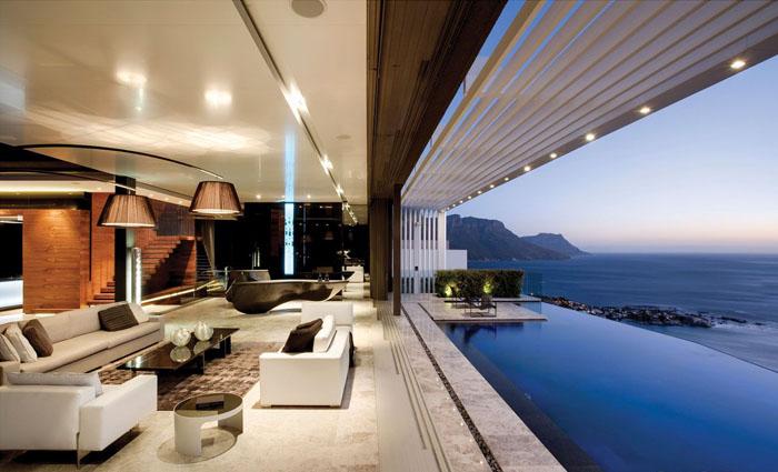 Вітальня від SAOTA architects і OKHA Interiors
