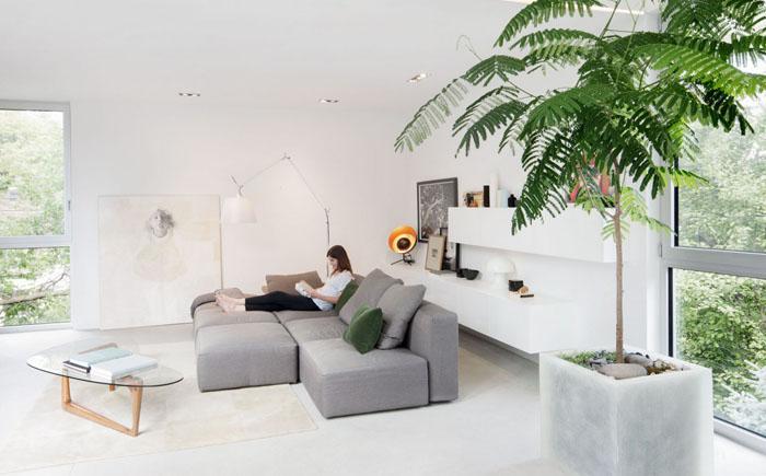 Інтер'єр вітальні від від студії Thomas Balaban Architecte