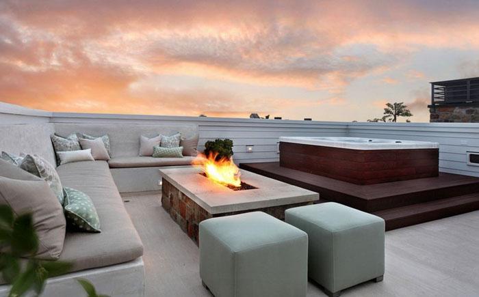 Зона відпочинку на терасі на даху