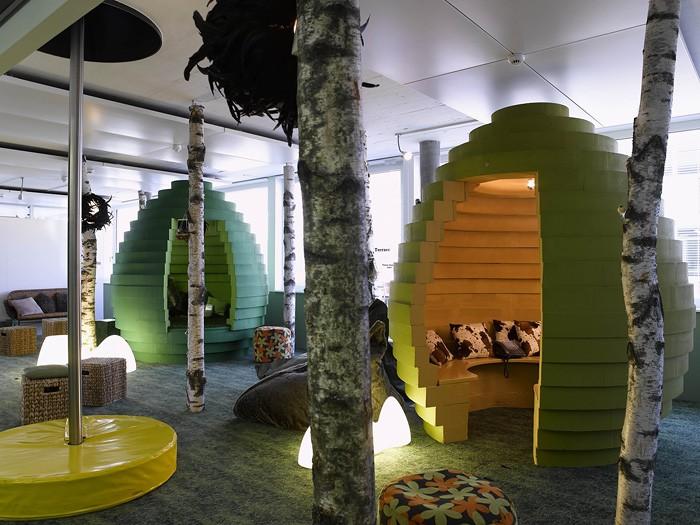 Незвичайні інтер'єри офісу корпорації Google в Цюриху