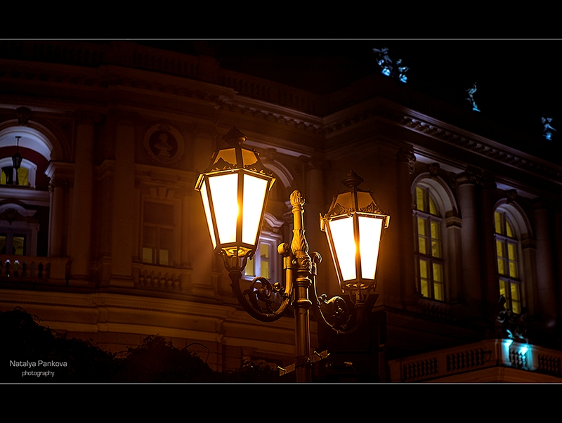 Нічні ліхтарі Одеси (фото Наталія Панкова)