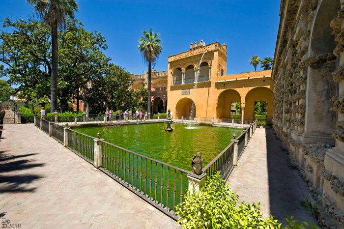 Королівський палац Дорна: сади Севільського Альксара, місто Севілья, Андалусія, Іспанія. Автор фото: Ильмар Хейн.