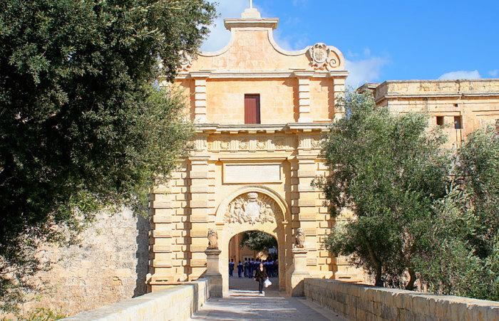 Ворота Королівської Гавані: Мдіна, Мальта.  Автор фото: Джон Хеслем.