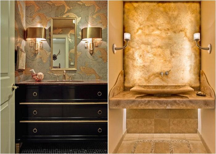 Інтер'єр туалетної кімнати від Leslie Hayes Interiors і RKI Interior Design