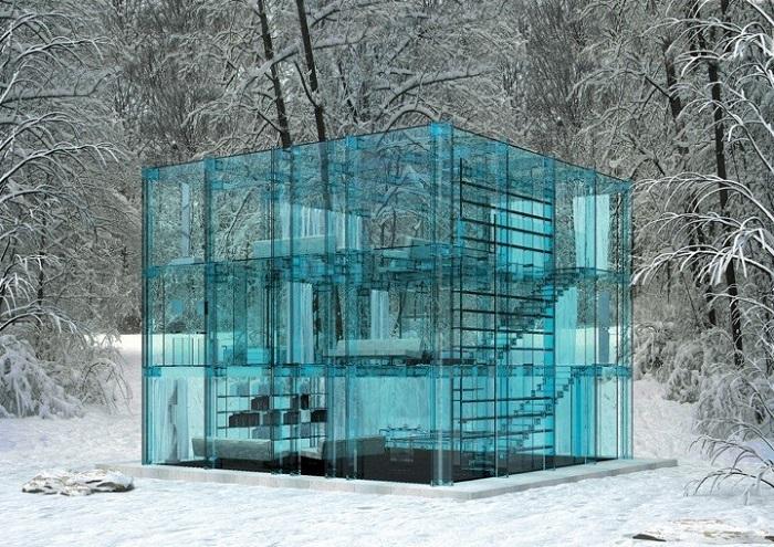 Snow House - будиночок із прозорого скла