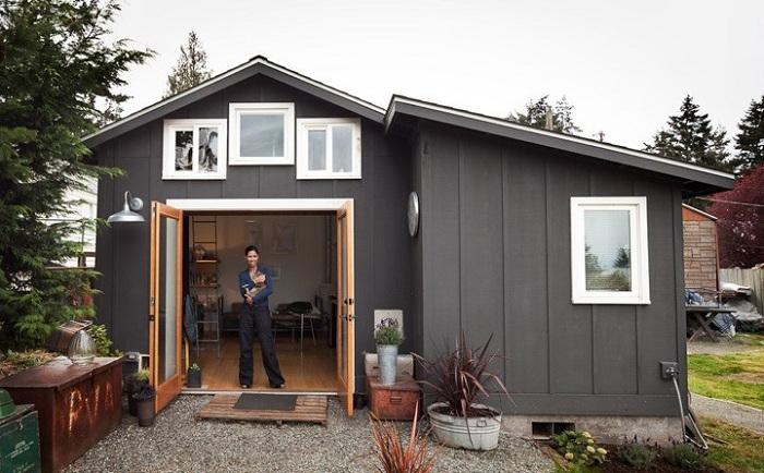 Будинок, перероблений з гаража