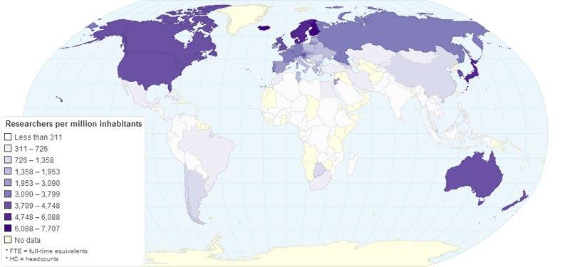 Кількість досліджень на тисячу населення