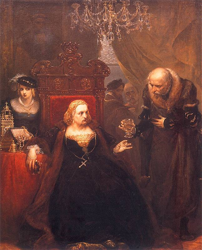 Отруєння королеви Бони. Художник Ян Матейко, 1859