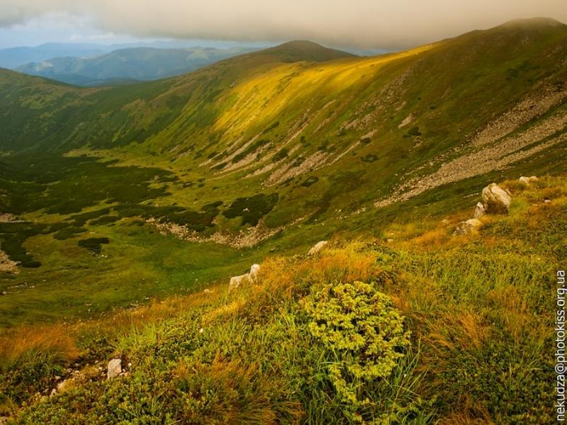 Гора Туркул. Схід сонця