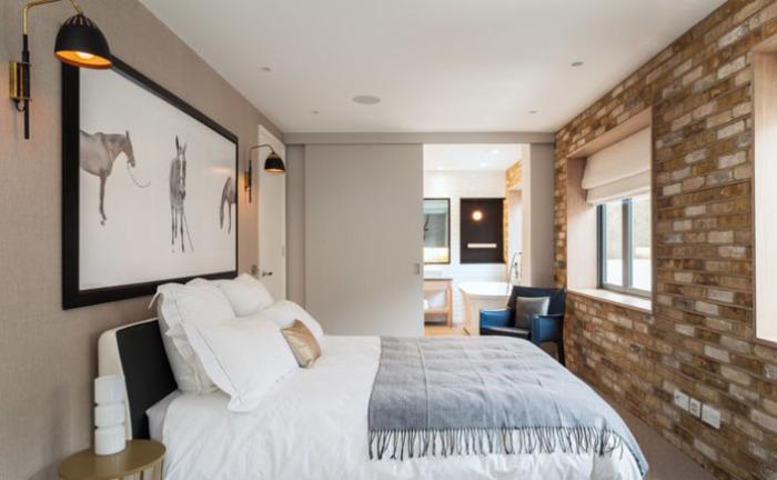 Інтер'єр спальні в стилі лофт