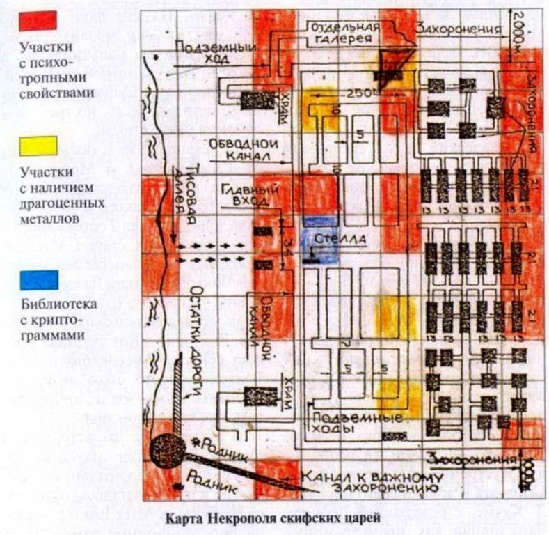 План підземних катакомб древніх скіфів