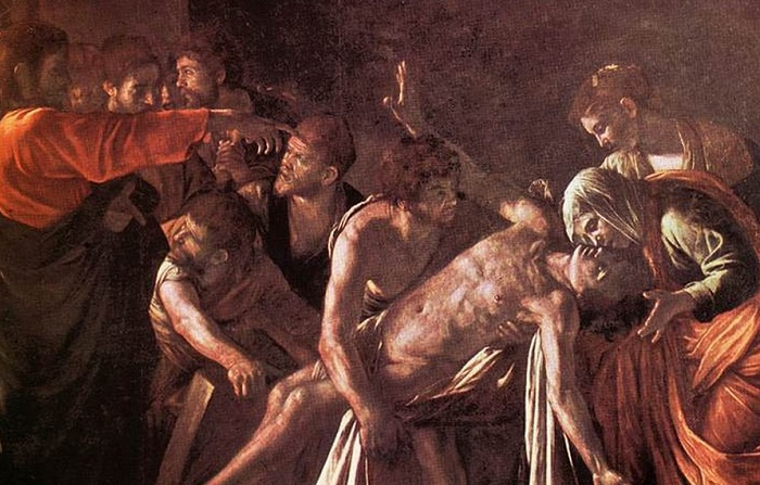 The-raising-of-LazarusCaravaggio