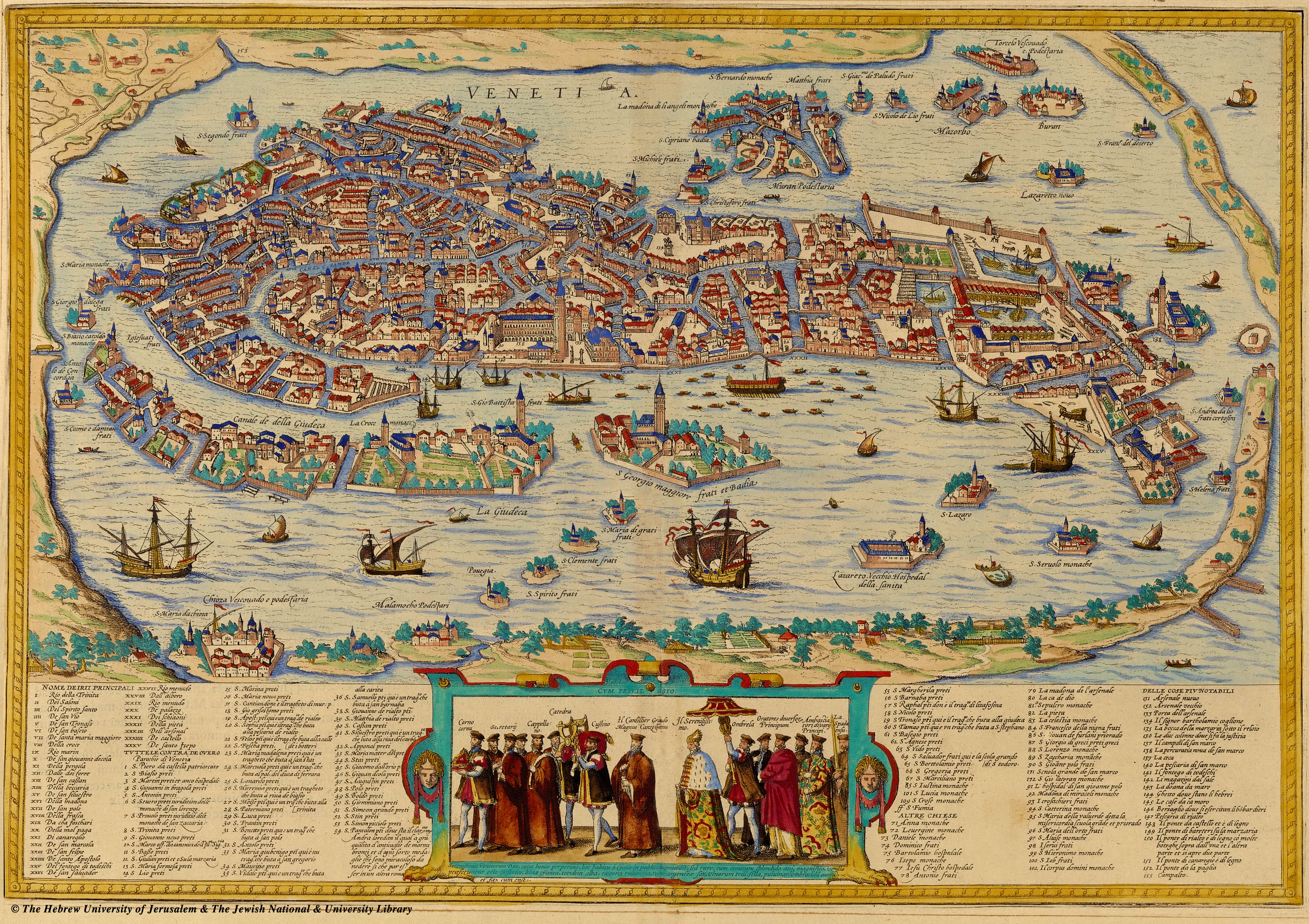 Стародавня карта Венеції