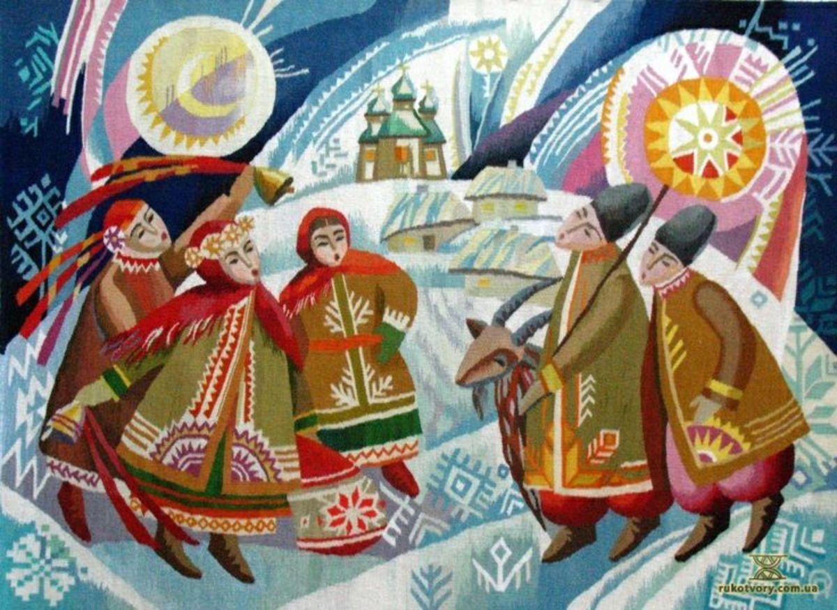 """Гобелен """"Коляда"""". Автор Olga Pilyugina (https://www.facebook.com/olga.pilyugina.58)"""